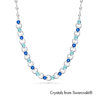 Infinity Necklace (Sapphire, Pure Rhodium Plated) - Lush Addiction