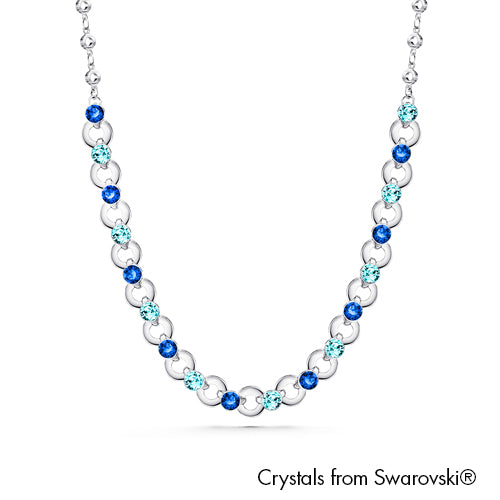 Infinity Necklace (Sapphire, Pure Rhodium Plated) - Lush Addiction, Crystals from Swarovski®