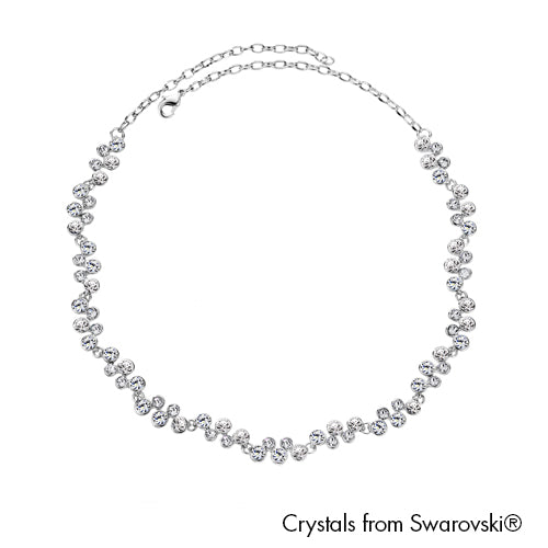 Symphony Necklace (Clear Crystal, Pure Rhodium Plated) - Lush Addiction, Crystals from Swarovski®