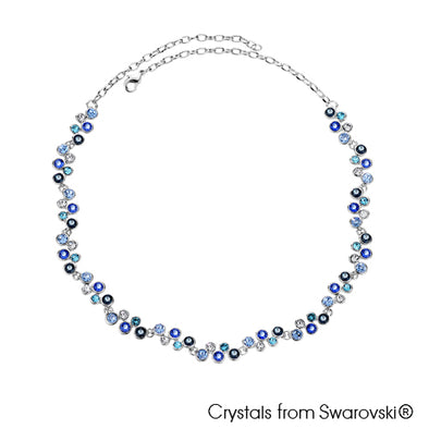 Symphony Necklace (Montana, Pure Rhodium Plated) - Lush Addiction, Crystals from Swarovski®