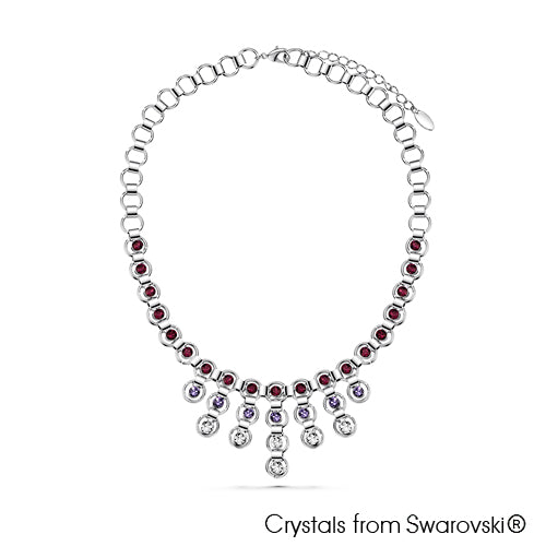 Eternity Necklace (Amethyst, Pure Rhodium Plated) - Lush Addiction, Crystals from Swarovski®