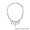 Eternity Necklace (Clear Crystal, Pure Rhodium Plated) - Lush Addiction, Crystals from Swarovski®
