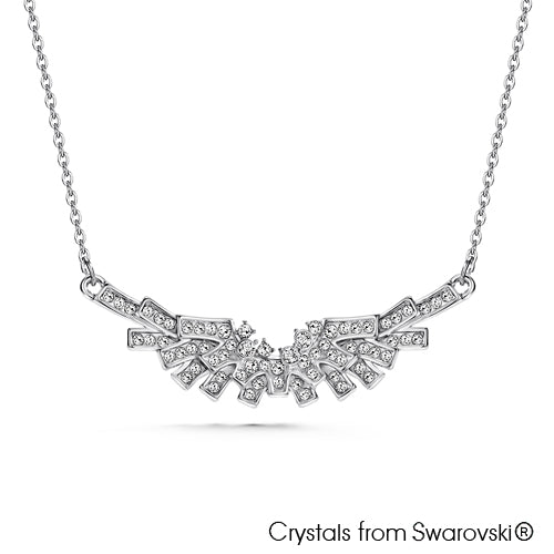 Angel Necklace (Clear Crystal, Pure Rhodium Plated) - Lush Addiction, Crystals from Swarovski®