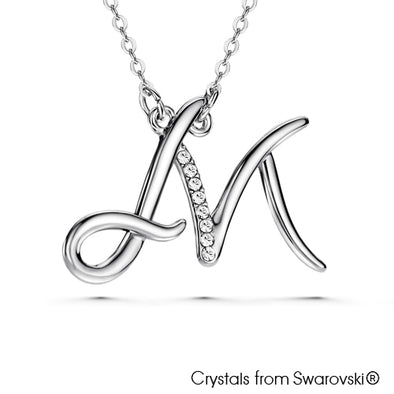 Alphabet M Necklace - Lush Addiction