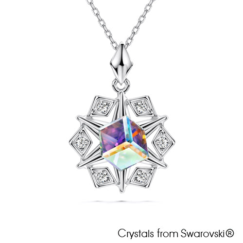 Merry Starry Necklace (Unicorn, Rainbow, Multi-Colour, Pure Rhodium Plated) - Lush Addiction, Crystals from Swarovski®