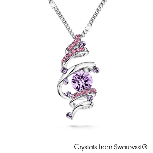Ballerina Necklace Violet Pure Rhodium Plated Lush Addiction Crystals from Swarovski