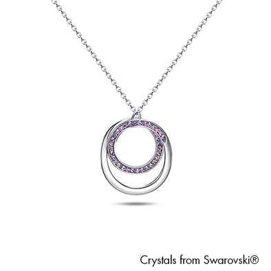 Corianne Necklace Violet Pure Rhodium Plated Lush Addiction Crystals from Swarovski