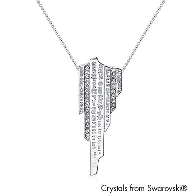 Singapore Stone Necklace Pure Rhodium Plated Lush Addiction Crystals from Swarovski