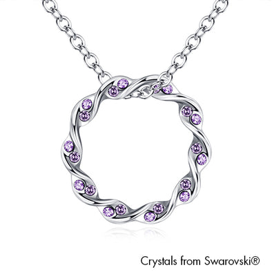 Eternity Necklace (Violet, Pure Rhodium Plated) - Lush Addiction, Crystals from Swarovski®