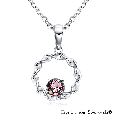Hope Necklace (Light Amethyst, Pure Rhodium Plated) - Lush Addiction, Crystals from Swarovski