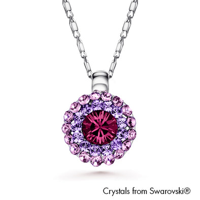 Cloris Necklace (Amethyst, Pure Rhodium Plated) - Lush Addiction, Crystals from Swarovski®