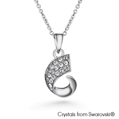 Carwen Necklace (Clear Crystal, Pure Rhodium Plated) - Lush Addiction, Crystals from Swarovski