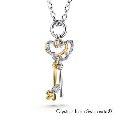Carwen Necklace (Pure Rhodium Plated) - Lush Addiction, Crystals from Swarovski®