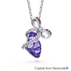 Natasha Necklace (Tanzanite, Pure Rhodium Plated) - Lush Addiction, Crystals from Swarovski®