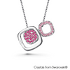 Avis Necklace Rose Pure Rhodium Plated Lush Addiction Crystals from Swarovski