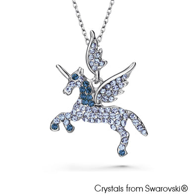 Unicorn Necklace (Montana, Pure Rhodium Plated) - Lush Addiction, Crystals from Swarovski®