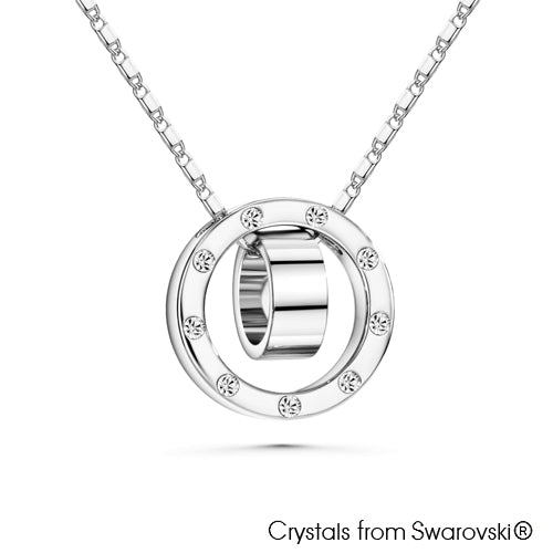 Melody Necklace (Clear Crystal, Pure Rhodium Plated) - Lush Addiction