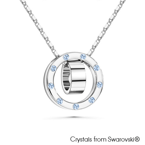 Melody Necklace (Light Sapphire, Pure Rhodium Plated) - Lush Addiction