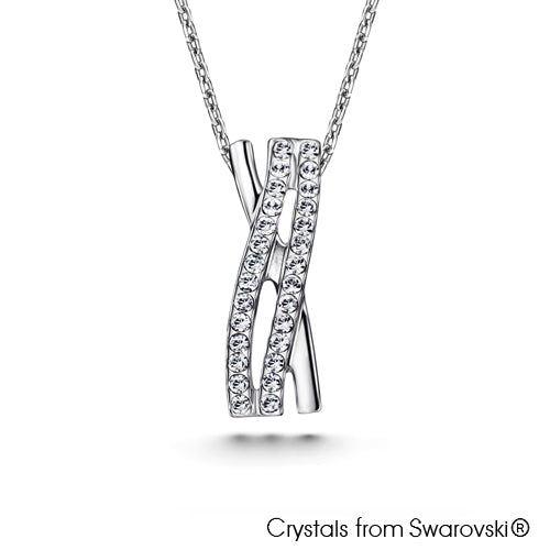 Elnora Necklace (Sapphire, Pure Rhodium Plated) - Lush Addiction, Crystals from Swarovski®
