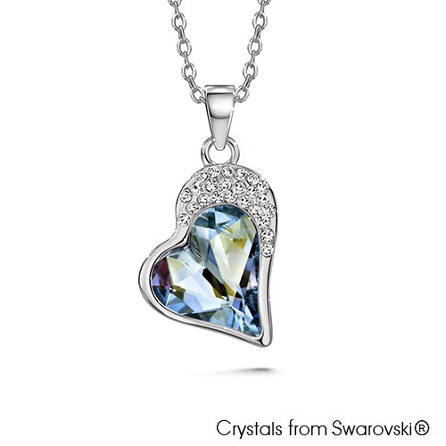 Vesta Necklace (Crystal Blue Shade, Pure Rhodium Plated) - Lush Addiction, Crystals from Swarovski®
