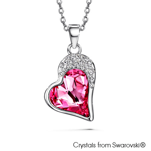 Vesta Necklace (Rose, Pure Rhodium Plated) - Lush Addiction, Crystals from Swarovski®