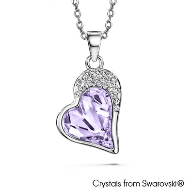 Vesta Necklace (Violet, Pure Rhodium Plated) - Lush Addiction, Crystals from Swarovski®