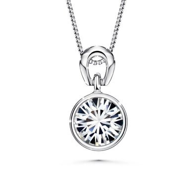 Solitaire Birthstone Necklace (Clear Crystals, Pure Rhodium Plated) - Lush Addiction, Crystals from Swarovski®
