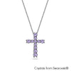 Mini Chrys Necklace (Violet, Pure Rhodium Plated) - Lush Addiction, Crystals from Swarovski®