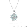 Daisy Necklace (Aquamarine, Pure Rhodium Plated) - Lush Addiction, Crystals from Swarovski®