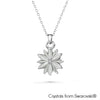 Daisy Necklace (Clear Crystal, Pure Rhodium Plated) - Lush Addiction, Crystals from Swarovski®