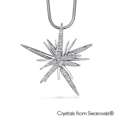 Astra Necklace (Clear Crystal, Pure Rhodium Plated) - Lush Addiction, Crystals from Swarovski®