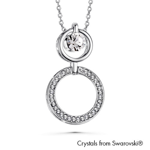 Three Way Necklace (Clear Crystal, Pure Rhodium Plated) - Lush Addiction, Crystals from Swarovski®