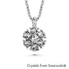 Flower Birthstone Necklace (Clear Crystal, Pure Rhodium Plated) - Lush Addiction, Crystals from Swarovski