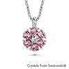 Flower Birthstone Necklace (Light Amethyst, Pure Rhodium Plated) - Lush Addiction, Crystals from Swarovski