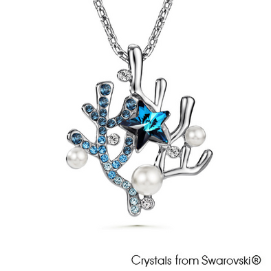 Coralyne Necklace (Pure Rhodium Plated) - Lush Addiction, Crystals from Swarovski®