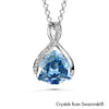 Erica Necklace Crystal Blue Shade Pure Rhodium Plated Lush Addiction Crystals from Swarovski