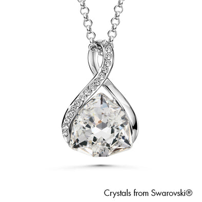 Erica Necklace Clear Crystal Pure Rhodium Plated Lush Addiction Crystals from Swarovski