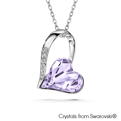 Amanda Necklace (Violet, Pure Rhodium Plated) - Lush Addiction, Crystals from Swarovski®
