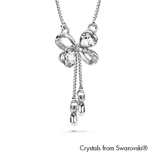 Jocelyn Necklace Clear Crystal Pure Rhodium Plated Lush Addiction Crystals from Swarovski