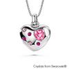 Valentine Necklace (Light Rose, Pure Rhodium Plated) - Lush Addiction, Crystals from Swarovski®