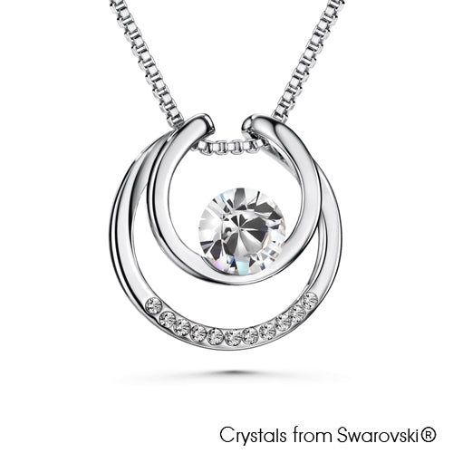 Amari Necklace (Clear Crystal, Pure Rhodium Plated)- Lush Addiction, Crystals from Swarovski®
