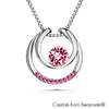 Amari Necklace (Rose, Pure Rhodium Plated)- Lush Addiction, Crystals from Swarovski®