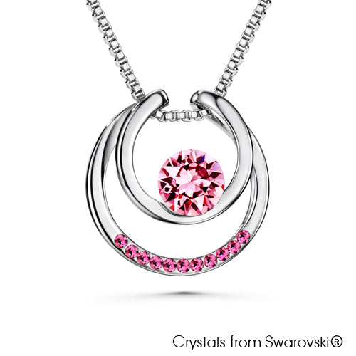 Amari Necklace (Rose, Pure Rhodium Plated) - Lush Addiction, Crystals from Swarovski®