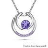 Amari Necklace (Tanzanite, Pure Rhodium Plated) - Lush Addiction, Crystals from Swarovski®