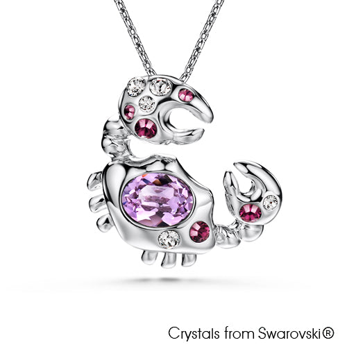 Cancer Horoscope Necklace (Pure Rhodium Plated) - Lush Addiction, Crystals from Swarovski®
