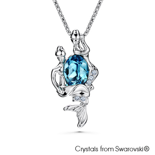 Pisces Horoscope Necklace (Pure Rhodium Plated) - Lush Addiction, Crystals from Swarovski®