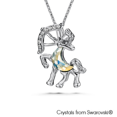 Sagittarius Horoscope Necklace (Pure Rhodium Plated) - Lush Addiction, Crystals from Swarovski®