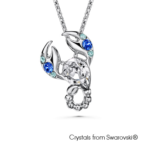 Scorpio Horoscope Necklace (Pure Rhodium Plated) - Lush Addiction, Crystals from Swarovski®