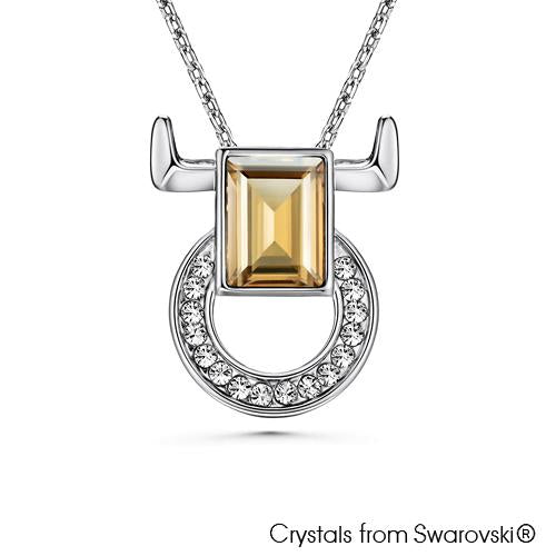 Taurus Horoscope Necklace (Pure Rhodium Plated) - Lush Addiction, Crystals from Swarovski®