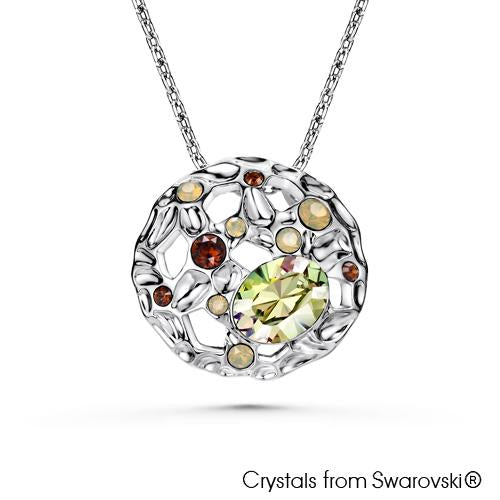 Earth Element Necklace (Pure Rhodium Plated) - Lush Addiction, Crystals from Swarovski®